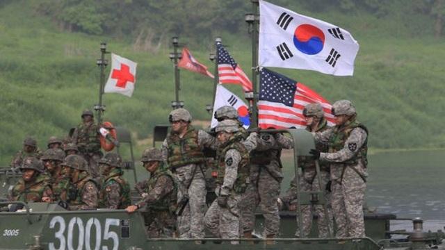Binh sĩ Mỹ và Hàn Quốc trong một cuộc tập trận chung. (Ảnh: AFP)