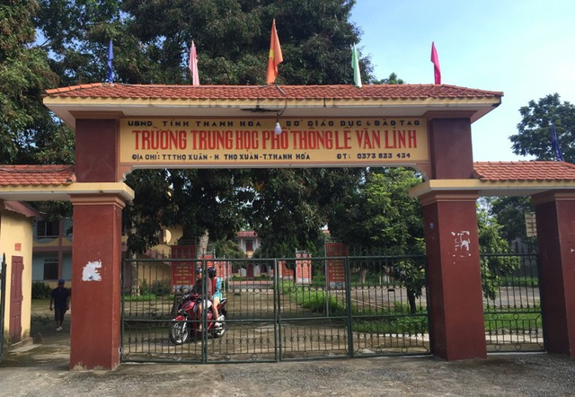 Trường THPT Lê Văn Linh (huyện Thọ Xuân, Thanh Hóa) là một trong những đơn vị sắp giải thể.