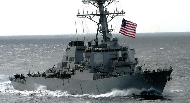 Tàu khu trục mang tên lửa dẫn đường USS Carney của Mỹ (Ảnh: Sputnik)