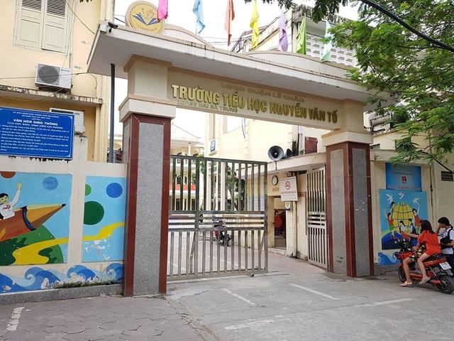 Trường tiểu học Nguyễn Văn Tố (quận Lê Chân, TP. Hải Phòng) - nơi phụ huynh tố hiệu trưởng từ chối không cho con nhập học lớp 1.