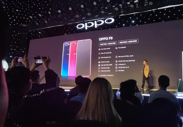 Oppo F9 có công nghệ sạc pin nhanh ra mắt tại Việt Nam, giá 7,69 triệu đồng - 1
