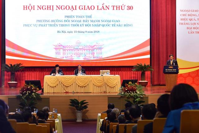 Đây là phiên họp quan trọng nhằm đánh giá kết quả chỉ đạo của Thủ tướng Chính phủ trong công tác ngoại giao (ảnh: Hữu Nghị)