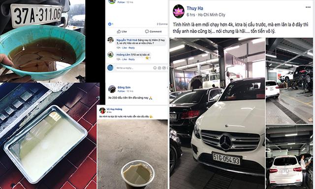 Thông tin về các mẫu xe bị dính nước vào cầu trước được đăng tải khá nhiều trên group của người sử dụng GLC tại Việt Nam.