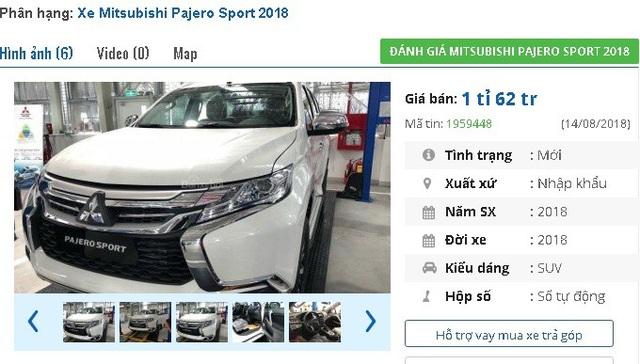 Mitsubishi Pajero Sport 2018 giảm giá mạnh lên tới 244 triệu đồng/chiếc.