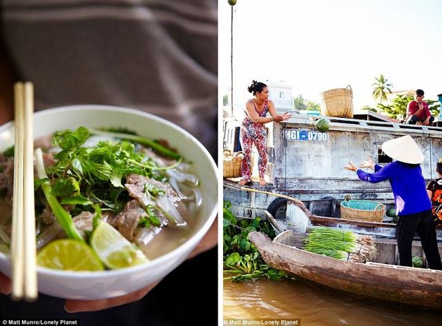 Phở Việt ăn trên chợ nổi ở miền sông nước là trải nghiệm đứng thứ 20/500.
