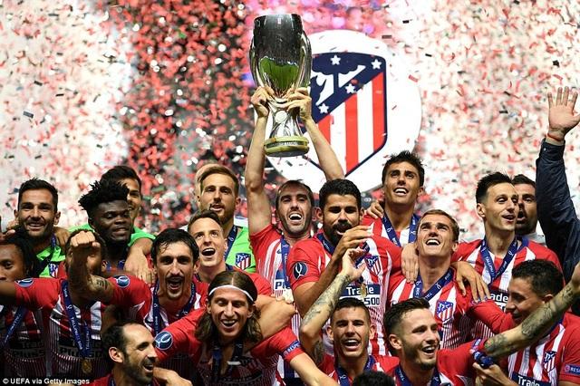 Atletico lần thứ ba giành Siêu Cup châu Âu