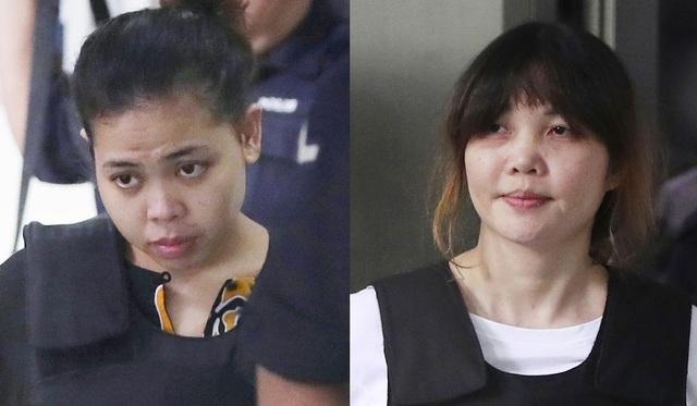 Bị cáo Đoàn Thị Hương (phải) và bị cáo Siti Aishah (Ảnh: Washington Times)