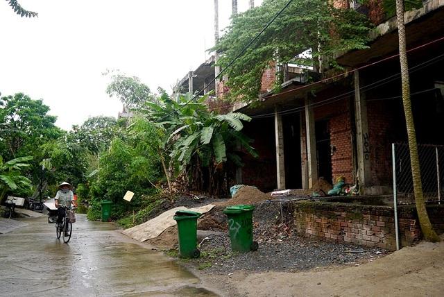 11 căn trong khu biệt thự cao cấp nằm trong hẻm 215, đường Nguyễn Văn Hưởng bị bỏ hoang gần 10 năm nay.