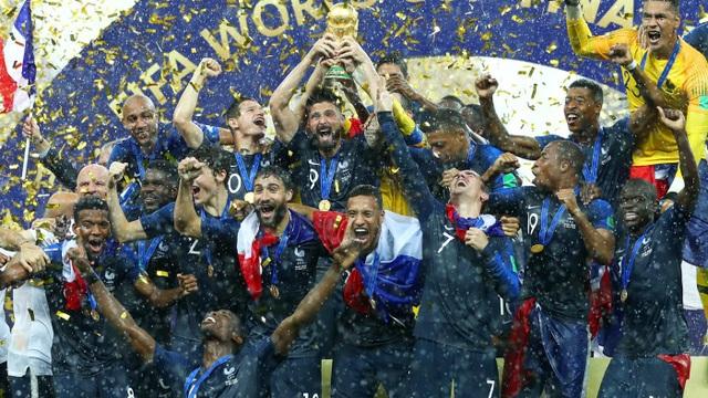 Pháp đã vươn lên số 1 thế giới sau khi giành chức vô địch World Cup 2018