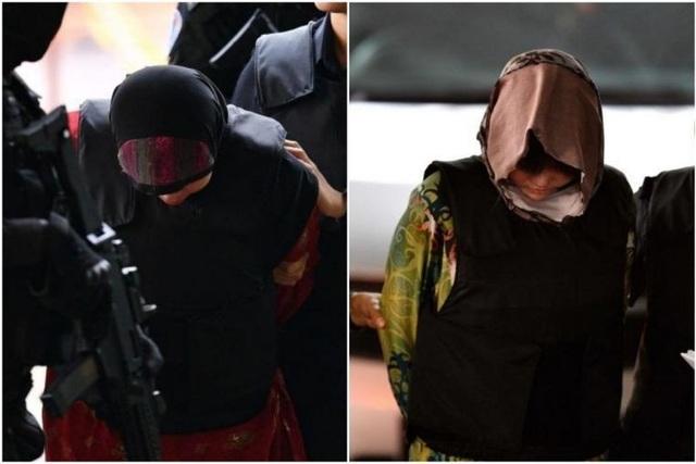 Hai bị cáo Đoàn Thị Hương và Siti Aisyah được đưa tới tòa sáng 16/8 (Ảnh: Reuters)