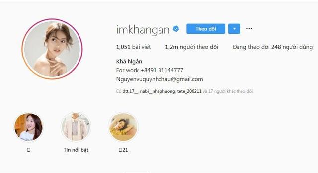 """Trước khi vào vai nữ chính của """"Hậu duệ mặt trời"""" phiên bản Việt, Khả Ngân đã âm thầm chạm ngưỡng 1 triệu người theo dõi trên Instagram. Thời điểm đó dù không hoạt động sôi nổi như trước, song Khả Ngân ngày càng trưởng thành và ngọt ngào, chính vì vậy lượng theo dõi tăng đều."""
