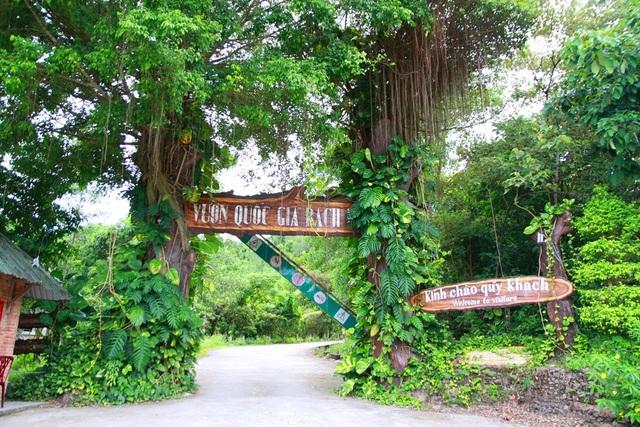 Đường vào Vườn Quốc gia Bạch Mã