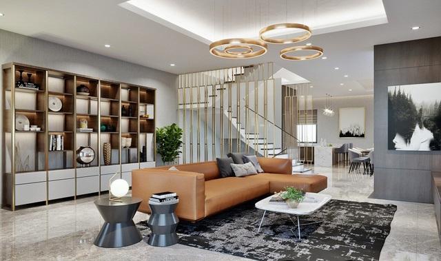 Bước lên tầng hai của Shop villa, một không gian sống riêng tư mà đẳng cấp hiện ra. Với diện tích mặt sàn rộng từ 93 đến 108m2, các chủ nhân tương lai hoàn toàn có thể thỏa sức sáng tạo không gian sống của mình.