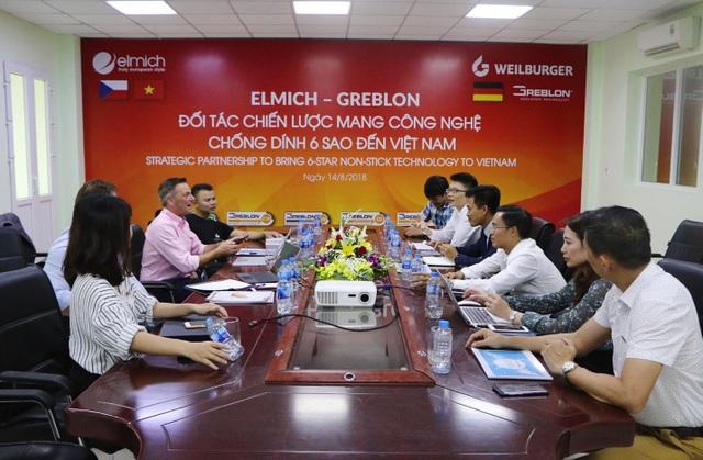 Đại diện Greblon - thương hiệu sơn chống dính số 1 tại Đức thăm đối tác Elmich tại Việt Nam - 3
