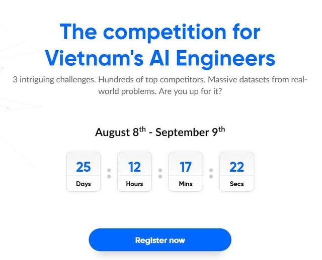 Cuộc thi còn hạn tham gia đến 09/09/2018