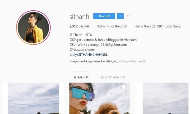 Sĩ Thanh được biết đến là một cô nàng đa năng khi vừa tham gia đóng phim, vừa ca hát. Thời gian qua dù không tham gia đóng phim hay ra MV mới nhưng cô nàng vẫn có tới 1,3 triệu người theo dõi trên Instagram.