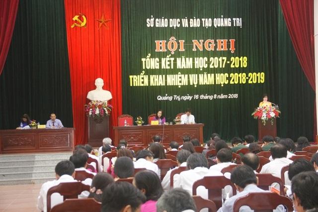 Ngày 16/8, Sở Giáo dục và Đào tạo Quảng Trị tổ chức Hội nghị tổng kết năm học 2017 - 2018, triển khai nhiệm vụ năm học 2018 - 2019.