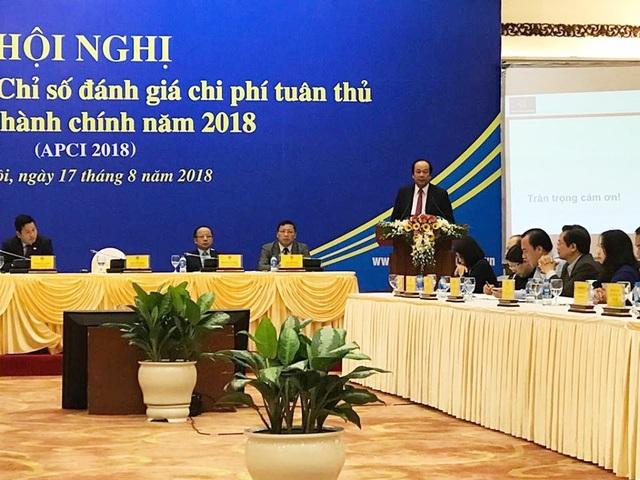 Chủ tịch Hội đồng tư vấn cải cách thủ tục hành chính - Bộ trưởng, Chủ nhiệm Văn phòng Chính phủ Mai Tiến Dũng công bố báo cáo ACPI 2018