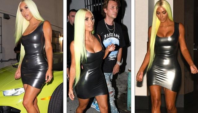 Kim Kardashian liên tục khoe thân với trang phục bó sát - 16