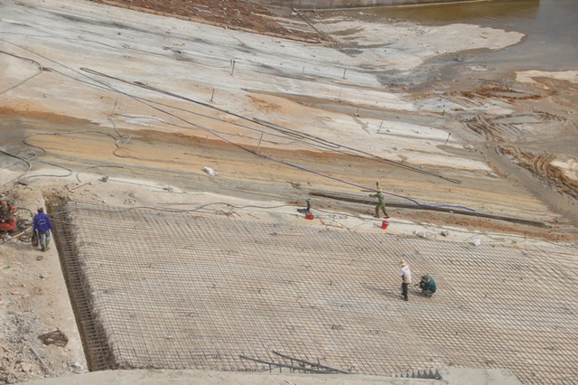 Phần xói lở được khắc phục sớm và sẽ hoàn thành trước mùa mưa