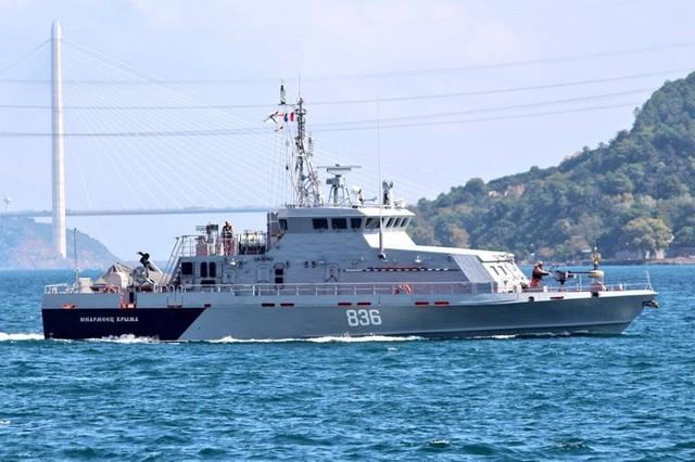 Tàu tuần tra chống phá hoại Yunarmeets Kryma 836 (xP355) lớp Grachonok (Ảnh: Yoruk Isik)