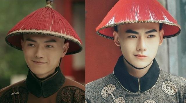 Phú Sát Phó Hằng trong phim (trái) và hình ảnh phiên bản của Châu Trọng Tài.