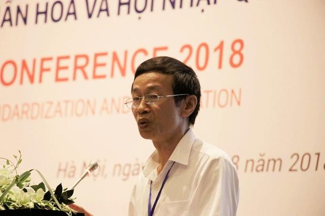 GS.TS Nguyễn Văn Minh, Hiệu trưởng Trường Đại học Sư phạm Hà Nội phát biểu tại hội thảo giáo dục ngày 17/8.