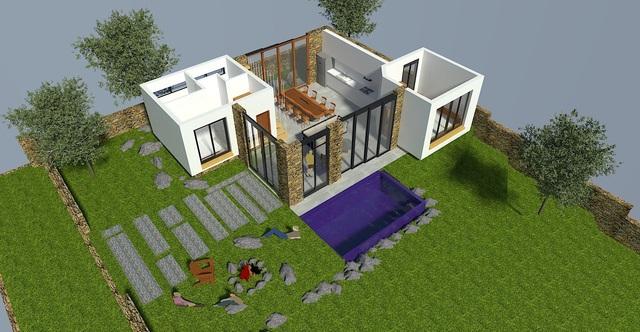 """Gợi ý mẫu thiết kế biệt thự nhà vườn """"mini"""" với chi phí khoảng trên 700 triệu đồng - 4"""