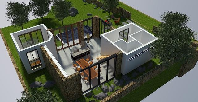 """Gợi ý mẫu thiết kế biệt thự nhà vườn """"mini"""" với chi phí khoảng trên 700 triệu đồng - 3"""