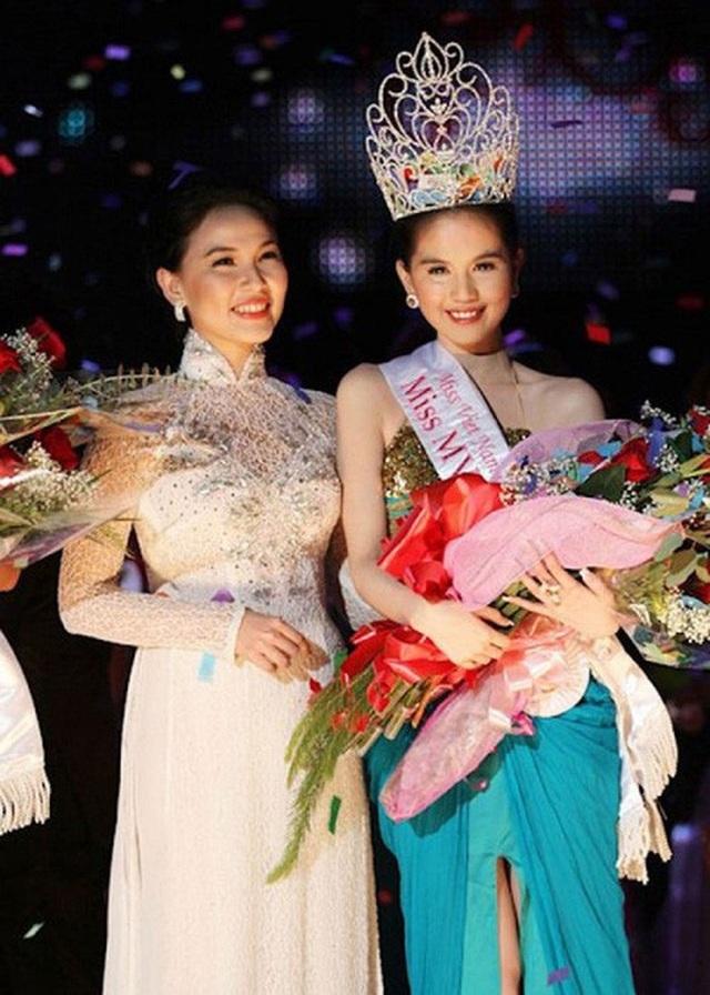 Dù đăng quang ngôi vị hoa hậu cuộc thi Hoa hậu Việt Nam Quốc tế tại Mỹ nhưng Ngọc Trinh vẫn được nhắc đến là người mẫu nội y Ảnh: TƯ LIỆU