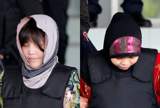 Đoàn Thị Hương (trái) và Siti Aisyah (phải). Ảnh: ABC