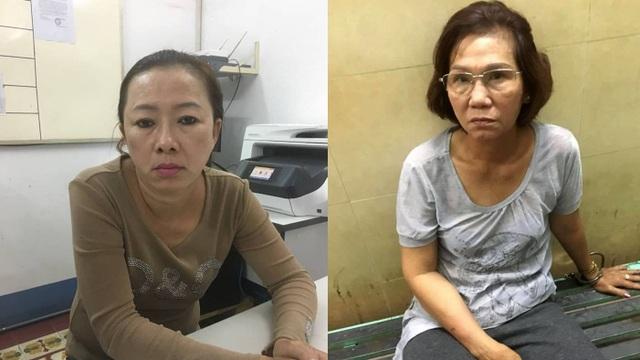 2 nữ quái bị bắt tại cơ quan công an