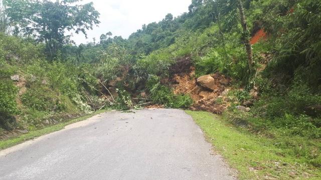Đất từ trên núi sạt lở đổ chắn ngang quốc lộ 48 đoạn qua xã biên giới Thông Thụ. Theo chính quyền xã Thông Thụ, khối lượng đất đá sạt lở tầm 100m3, kéo dài khoảng 20m.