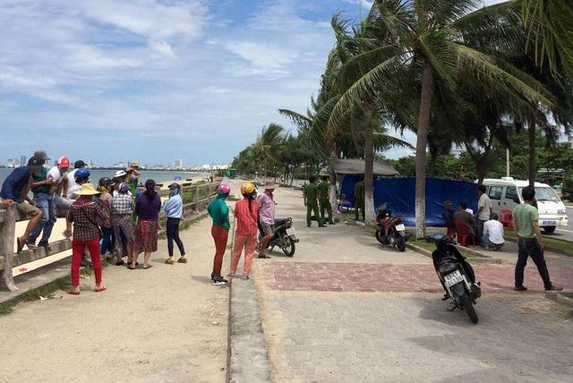 Khu vực biển nơi ngư dân phát hiện thi thể nạn nhân
