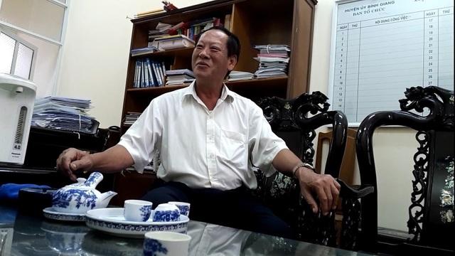 Ông Hoàng Văn Thanh- Trưởng Ban Tổ chức Huyện uỷ Bình Giang (Hải Dương) đã bị yêu cầu làm tường trình về vụ việc.