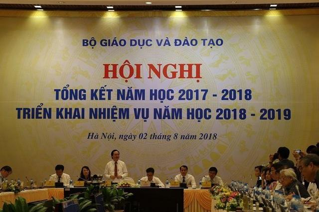 Hội nghị Tổng kết năm học 2017- 2018, triển khai nhiệm vụ 2018- 2019 do Bộ GD&ĐT tổ chức ngày 2/8 tại Hà Nội.
