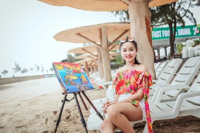 NTK Tạ Linh Nhân cho ra đời BTS từ ý tưởng hội họa của á hậu nhí Khánh Linh - 3