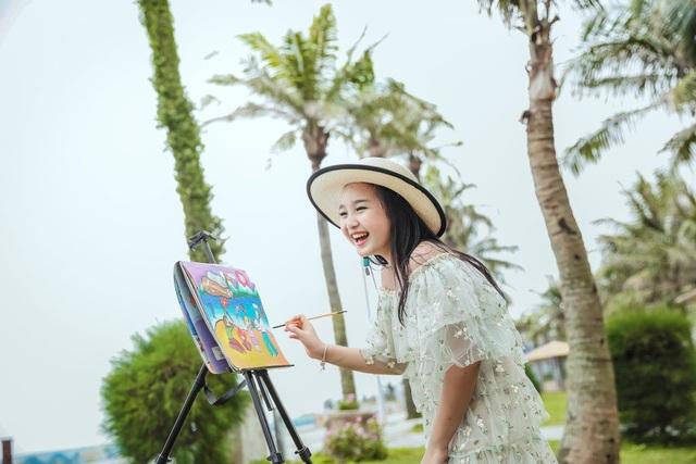 NTK Tạ Linh Nhân cho ra đời BTS từ ý tưởng hội họa của á hậu nhí Khánh Linh - 4