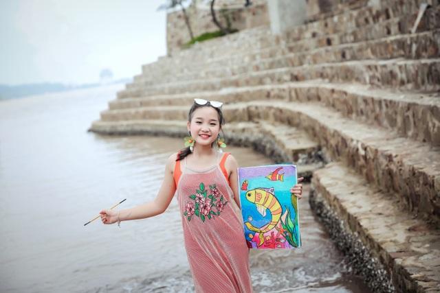 NTK Tạ Linh Nhân cho ra đời BTS từ ý tưởng hội họa của á hậu nhí Khánh Linh - 7
