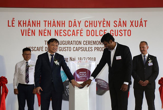 Lễ khánh thành dây chuyền sản xuất viên nén NESCAFÉ Dolce Gusto đã diễn ra tại Nhà máy Nestlé Trị An.