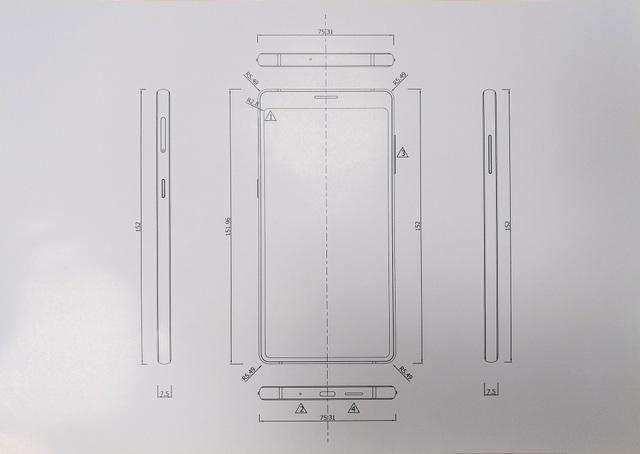 Bản thiết kế cho thấy các viền màn hình siêu mỏng.