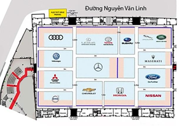 Toàn cảnh sơ đồ triển lãm Vietnam Motorshow 2018