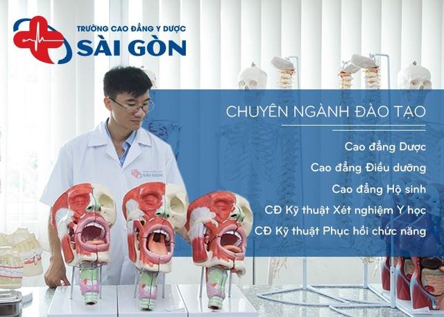 Các chuyên ngành đào tạo của Trường Cao đẳng Y Dược Sài Gòn.