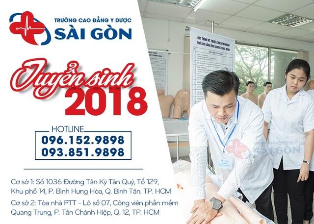Trường Cao đẳng Y Dược Sài Gòn tuyển sinh năm 2018.