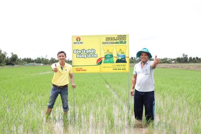 Bộ sản phẩm chất lượng cao của Đạm Cà Mau đã đến tay bà con nông dân ĐBSCL