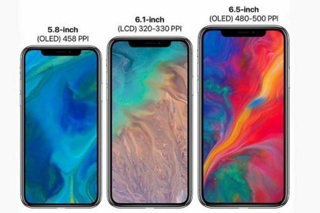 """Bộ 3 iPhone mới sẽ có thiết kế """"tai thỏ"""" giống iPhone X, với kích thước màn hình khác nhau"""