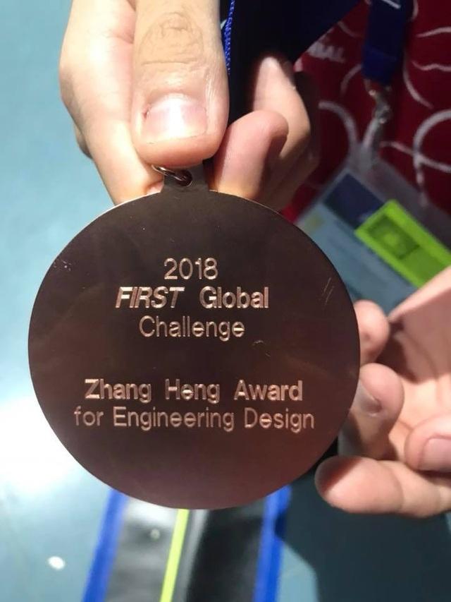 Robot Fawkes được đánh giá cao và Huy chương Đồng về thiết kế robot. (Ảnh: Việt Hùng/Vietnam+)