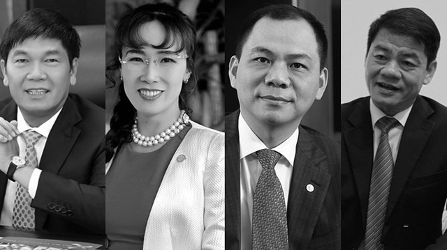 4 tỷ phú Forbes hiện tại của Việt Nam