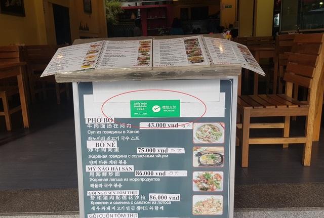 Hàng loạt cửa hàng công khai thanh toán qua Wechat Pay với khách Trung Quốc - 7
