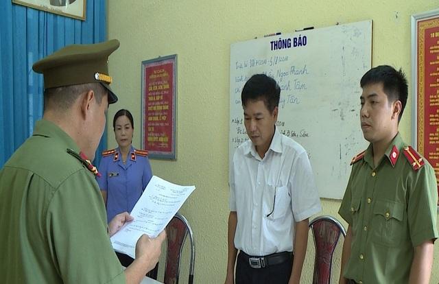 Trước đó Cơ quan công an cũng đã ra quyết định khởi tố với 5 cán bộ sở GD&ĐT Sơn La.